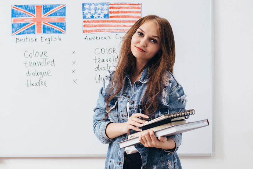 angielski brytyjski i amerykański